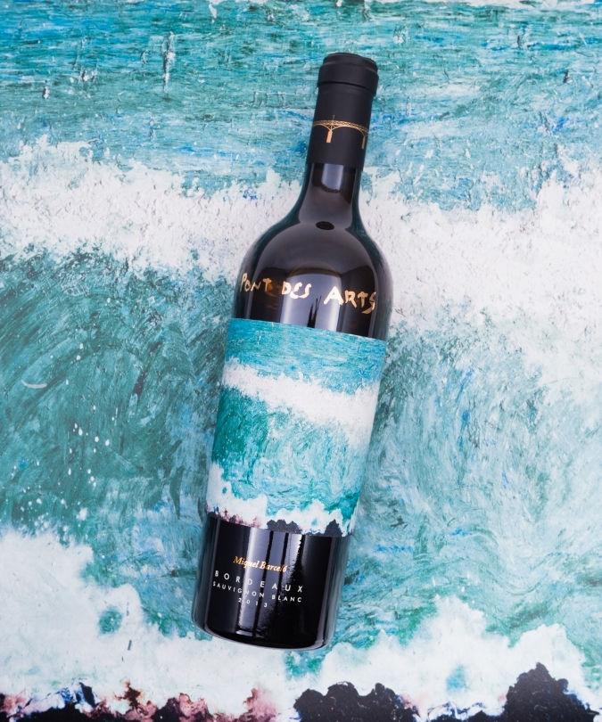 Pont des Arts Bordeaux wine bottle