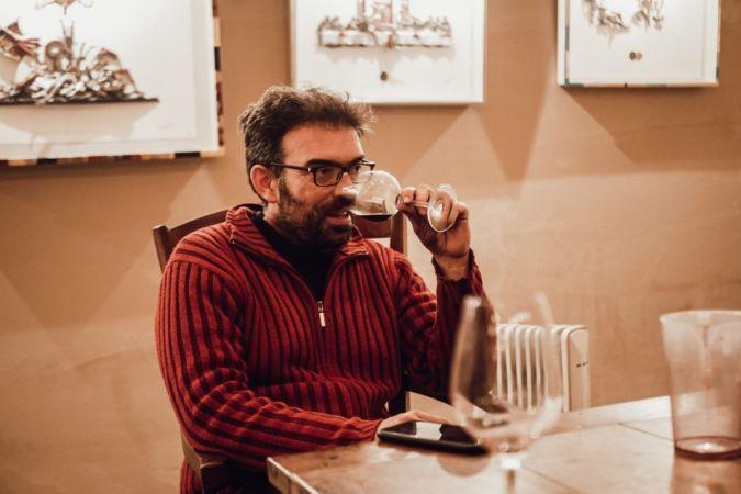 Loic Pasquet tasting wine