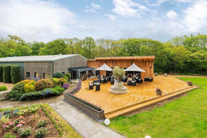 Tinwood wine estate tasting deck