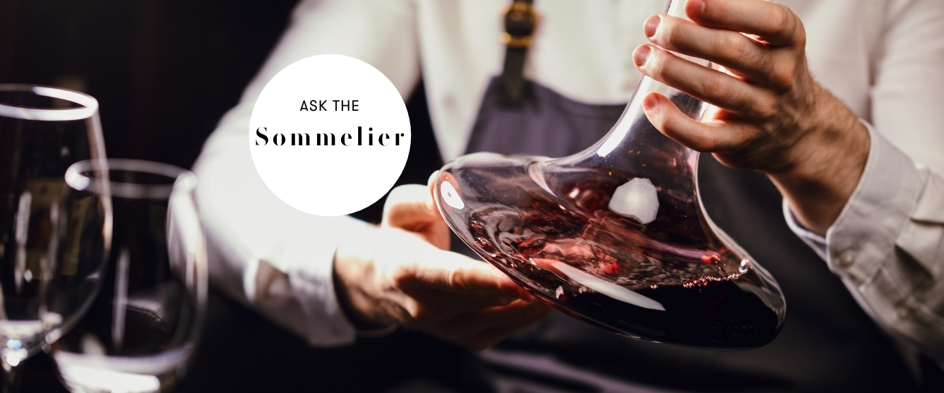 ask the sommelier decanting wine