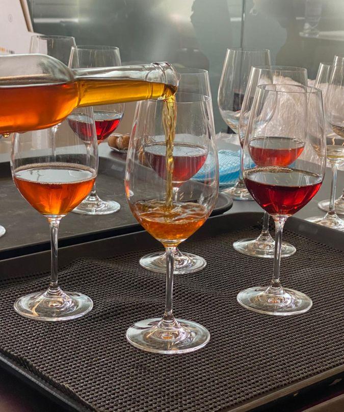 image of cider glasses
