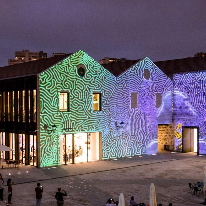 exterior of world of wine museum in porto