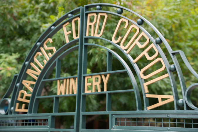 Francis Ford Coppola Winery Entrance Gate