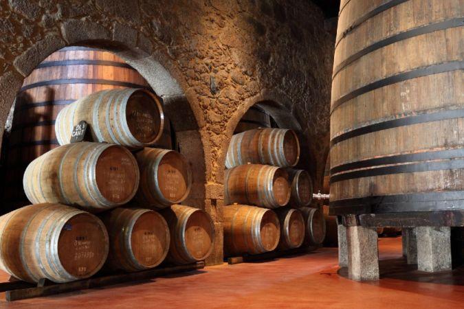 Inside a port cellar in Porto