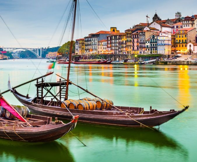 Banks of river in Porto