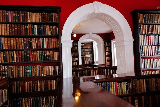 The library at Porto's Factory House