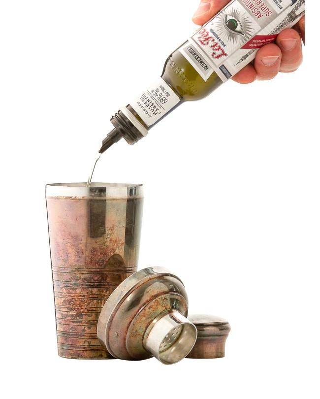 La Fee pourer bottle and cocktail shaker