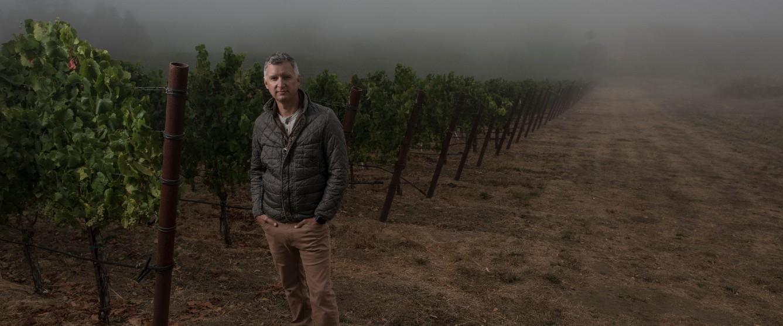 Ferren wines matt courtney in the vineyard fog