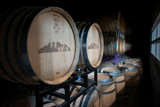 Wine in the barrel at Ferren Wines