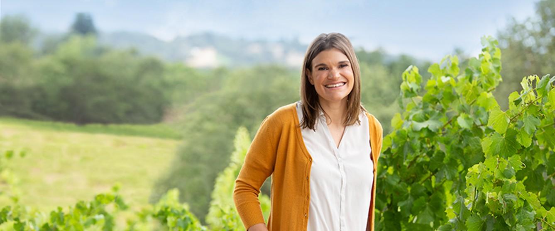 Katie Jackson in the vineyards of Jackson Family Wines