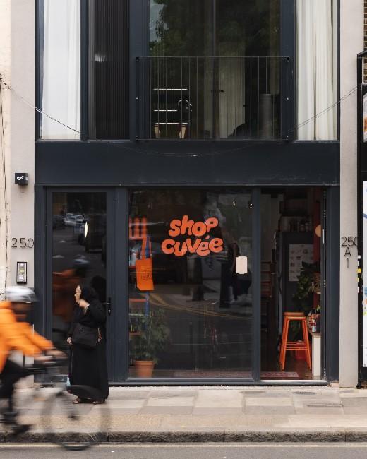 Exterior, Top Cuvée bar and shop, Bethnal Green London