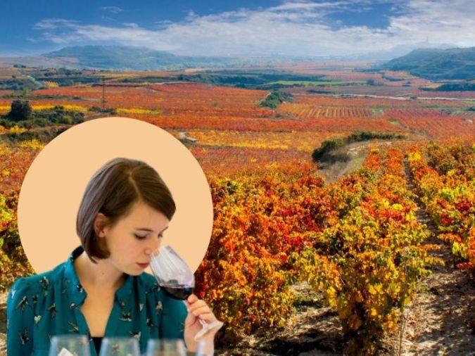 victoria burt mw overlaid on spanish vineyard
