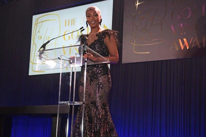 tahira habibi at the golden vines wine awards