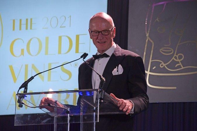 Egon Muller at the Golden Vines awards