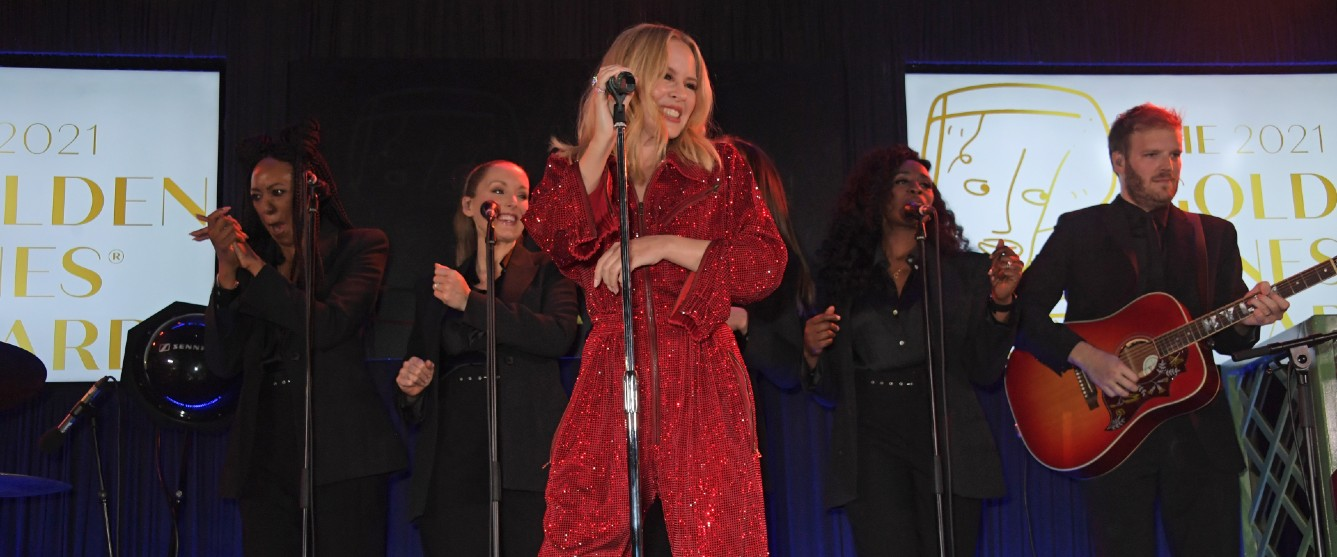 kylie minogue performing at the golden vines awards